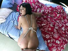 Nacho Vidal admires breathtakingly sexy Damariss body before she takes his boner in her deep down her throat