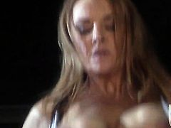 Janet Mason takes a dream shower in cumshot action