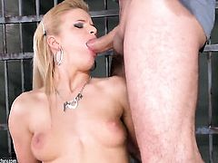 Blonde Bianka Lovely cant live a day without getting her mouth fucked by horny guy