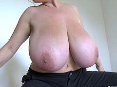 Milena Velba with her huge tits