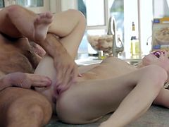 Visit official Babes's HomepageSlim blondie with amazing ass and small tits, Alex Grey, is having a blast by getting pumped in the kitchen and made to scream of high pleasures