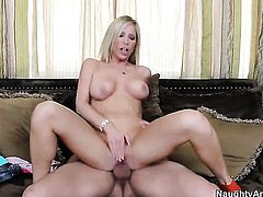 Tasha Reign with juicy knockers and hairless beaver gets her love tunnel humped hard and deep by Ryan Driller in a wide variety of positions