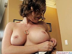Krissy Lynn with juicy knockers and trimmed snatch is good on her way to satisfy her horny bang buddy Mr. Pete