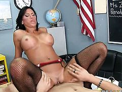 Xander Corvus cant resist prettied up Lezley Zens acttraction and bangs her like crazy