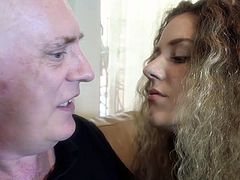 Visit official Beauty And The Senior's HomepageSlim beauty with amazing forms is happy to engulf a senior man's cock in advance to get it deep down her cramped pussy