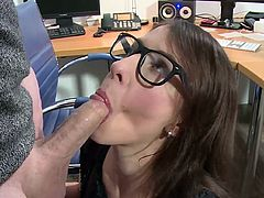 Visit official MMV Films HD's HomepageAppealing office chick with sex glasses on, Valeria Jones, starts having her office partner deep cracking her butt hole in a superb anal encounter at work