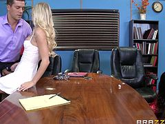 Prince and Ramon had a very stressful meeting, but it went well. They closed the deal and wanted to relax, and celebrate their success. Their wives came to the office after everyone left and got down to business, sucking and fucking their men, just the way they like it. The ladies go all out for them.