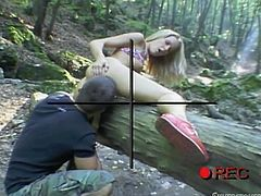 You've heard the expression that someone is sitting there like a bump on a log. Well, Sophie is getting humped on a log! After getting her pussy licked wonderfully, she slurps her man's cock and spreads her legs wide for him, ready to take every inch of him deep inside her aching, hot pussy.