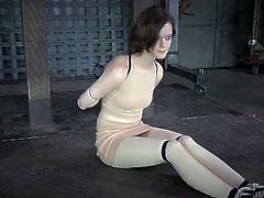 Many whores do enjoy BDSM and this brunette is into some kinky stuff
