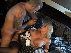 Stormy Daniels has fire in her eyes as she gets her throat fucked by her bang buddy