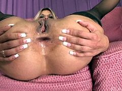 Ass licking sluts have a kinky threesome with a lucky dude