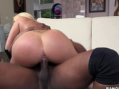 Summer has long, black gloves on her hands and a long, black cock in her mouth. The busty, big booty having slut takes him deep in side her tight twat, sucking him in between positions, enjoying the taste of herself on his large dong. Will she take him in her big ass as well? Watch and see!