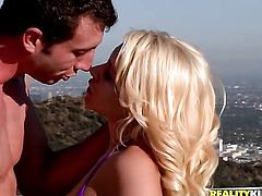 Blonde baby doll Katie Summers is one oral slut who gives Jordan Ashs meaty cock a try