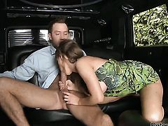 Jenna Presley lets Will Powers put his snake in her mouth