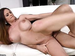 Brunette chick Cathy Heaven with juicy jugs has sex session of her lifetime