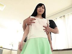 Chiemi Yada displays her naughty bits as she gets her sweet pumped hard and deep by horny as hell guy