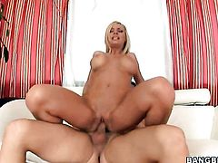 Blonde Helena Sweet with round booty is in interracial fucking ecstasy with hard cocked dude