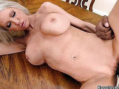 Emma Starr with juicy boobs and bald twat is sexually happy to be used by Prince Yahshua with rock hard worm over and over again