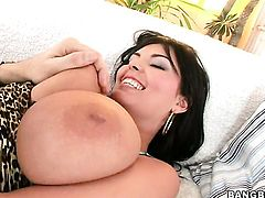 Brunette Jasmine Black gets her throat fucked good and hard