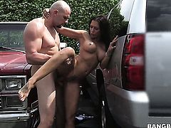 Brunette Rachel Starr is totally addicted to cock stroking