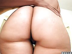 Brunette MILF Melissa Monet with big ass gets face fucked