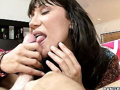Brunette Ava Devine with bubbly ass and hard cocked guy have a lot of sexual energy to spend in steamy interracial action