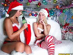 Money rules the world and with the right amount of money, even Santa Claus can find a helper. Today, his helper will be Kymberlee Anne, & those who will agree to participate in her competitions, she will give excellent gifts. It is very creative competitions! Santa will be satisfied...