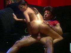 Angel faced seductress Ann Marie gets covered in sticky nectar after sex with hot dude