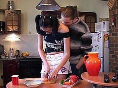 Kitchen sex with Fyona
