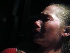 masturbating in the car on the road