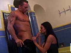 Adorable sweetie Alektra Blue gets her mouth stuffed full of ram rod in oral action with horny dude