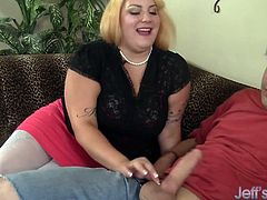 Blonde plumper Jade Rose gets her pussy pounded hard