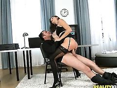 James Brossman buries his stiff man meat in hot Sensual Janes mouth