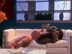 Passionate breathtaker Jada Fire satisfies guys sexual needs and then gets her nice face cum glazed