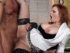 David Perry explores the depth of enchanting Tarra Whites butthole with his man meat