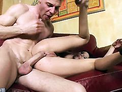 Alison Star takes guys cum loaded cock in her wet spot