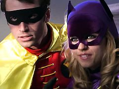 A threesome with a Batman parody