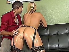 Mellanie Monroe fucked hard in interracial action!