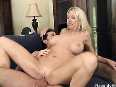Emma Starr with big melons wants sex with James Deen really badly