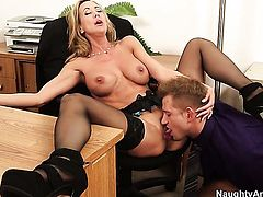 Bill Bailey plays with yummy Brandi Loves hole before he slams her hole with his hard worm