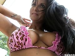 Brunette Ava Addams is good at fucking and her hard cocked bang buddy knows it