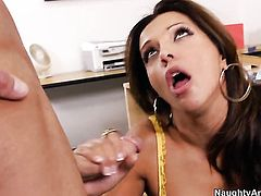 Seth Gamble attacks fuck crazed Francesca LeS hole with his love torpedo