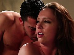 Maddy OReilly gagging on guys sturdy worm