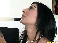 Brunette Lou Charmelle is so wet and so horny in anal action witj Voodoo that fucks like a sex crazed animal before she takes it in her mouth