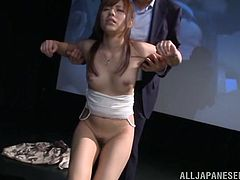 She and her boyfriend were so horny, that they couldn't even wait to get home to have some nasty sex. Instead, they got up from their seats and fucked in the front of the movie screen! The brunette slut was eaten out, fingered and licked all over.