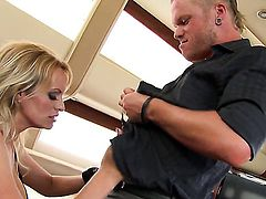 Stormy Daniels plays with dudes meaty snake