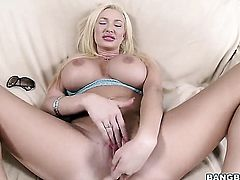 Huge tits blonde is getting her fill