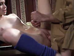 Ashlyn Rae has some dirty fantasies to be fulfilled with guys sturdy meat stick in her mouth