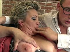 mature bbw threesome and one cock