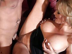 Stormy Daniels enjoys cock sucking too much to stop in oral action